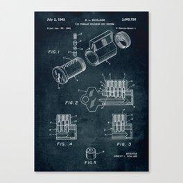 1961 - Pin tumbler cylinder key system Canvas Print