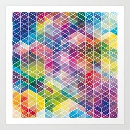 Cuben Curved #6 Geometric Art Print. Art Print