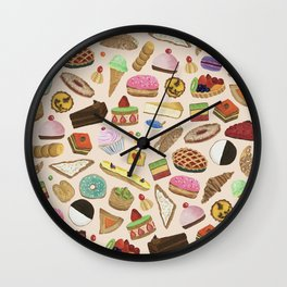 Desserts of NYC Cream Wall Clock
