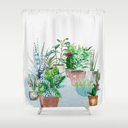 Plants 2 Shower Curtain