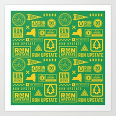 Run Upstate Art Print
