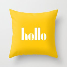 Hello (Crocus Yellow) Throw Pillow