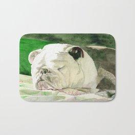 Rufus the Bulldog Bath Mat
