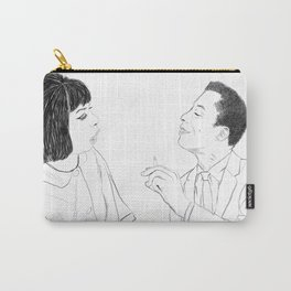 Portrait of Nina Simone and James Baldwin Carry-All Pouch