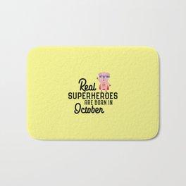 Superheroes-are-born-in-October T-Shirt D3s29 Bath Mat