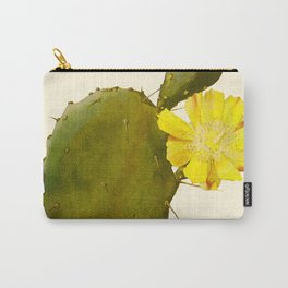 Blossoming Prickly Pear cactus Carry-All Pouch