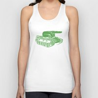 gears of war Tank Tops featuring @#$% WAR! by Madkobra