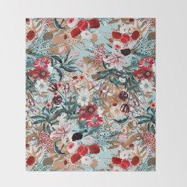Summer Botanical Garden XIII Throw Blanket