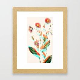 3D Flowers Framed Art Print