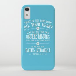 Proverbs 3 verses 5 and 6 - Typographic Bible Verse iPhone Case