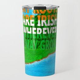 Irish Roots Typographical Map Art Travel Mug