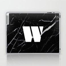 Black Marble - Alphabet W Laptop & iPad Skin