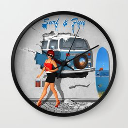 Back to the 60s Wall Clock