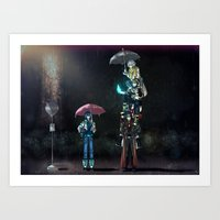 dramatical murder Art Prints featuring Dramatical Murder - My Neighbors... by Lalasosu2