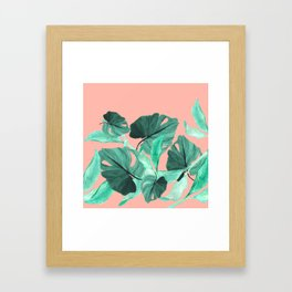 Jungle Foliage (Peach) Framed Art Print