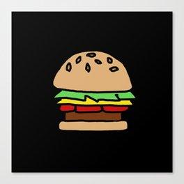 Burger Off Canvas Print