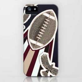 American football, gridiron ball iPhone Case