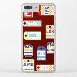 Retro airport ticket Clear iPhone Case