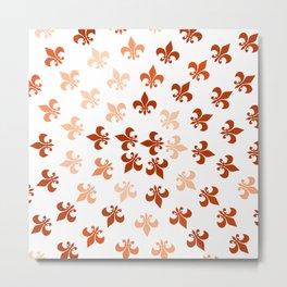 Autumn Fleur-Di-Lis Metal Print