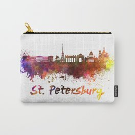 Saint Petersburg skyline in watercolor Carry-All Pouch