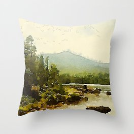 Baxter State Park Throw Pillow