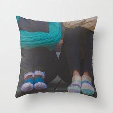wool socks. Throw Pillow