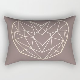 Geometric Heart Rectangular Pillow