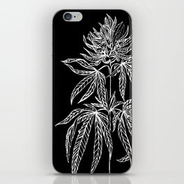 Reverse Cannabis Illustration iPhone Skin