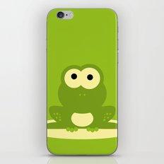 Minimal Frog Green iPhone & iPod Skin