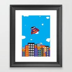 Pengwin that is Super Framed Art Print