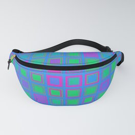 Polysexual Pride Stacked Squares Grid Fanny Pack