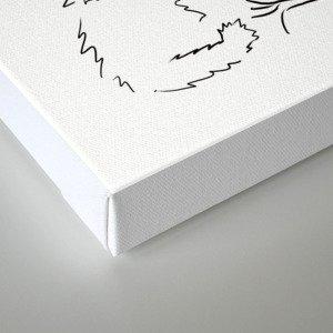 Cat, elephant, and dog friendship trio Canvas Print