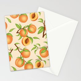 Practice What You Peach - Peach Pattern Stationery Cards
