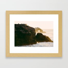 Seal Rocks Framed Art Print