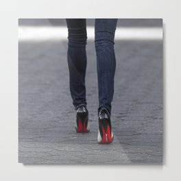 Excess Red Metal Print