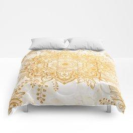 Queen Starring of Mandala-Gold Sunflower I Comforters