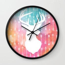 Arrow // Stag Wall Clock