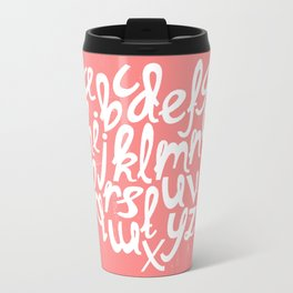 CORAL ALPHABET Travel Mug