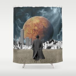 Out of the past & into the future Shower Curtain