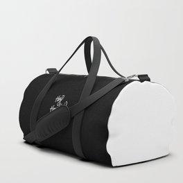Hey Houdini   [black & white] Duffle Bag