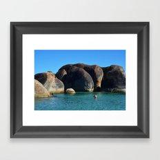 Elephant Rocks Framed Art Print