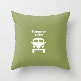 Summer 1969 - Green Throw Pillow