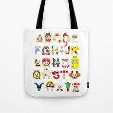 Super Mario Alphabet Tote Bag