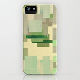 Green dreams of a little abstract forest iPhone Case
