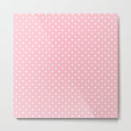 Dots (White/Pink) Metal Print