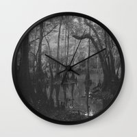 florida Wall Clocks featuring Florida Swamp by Kevin Russ