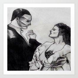 Erik & Christine Art Print