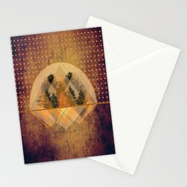 try again tree-angles mountains Stationery Cards