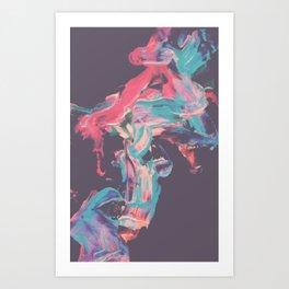 Colorfull Smoke Art Print