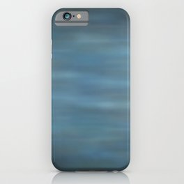 Abstract Soft Watercolor Blend Graphic Design 12 Black, Dark Blue and Light Blue iPhone Case